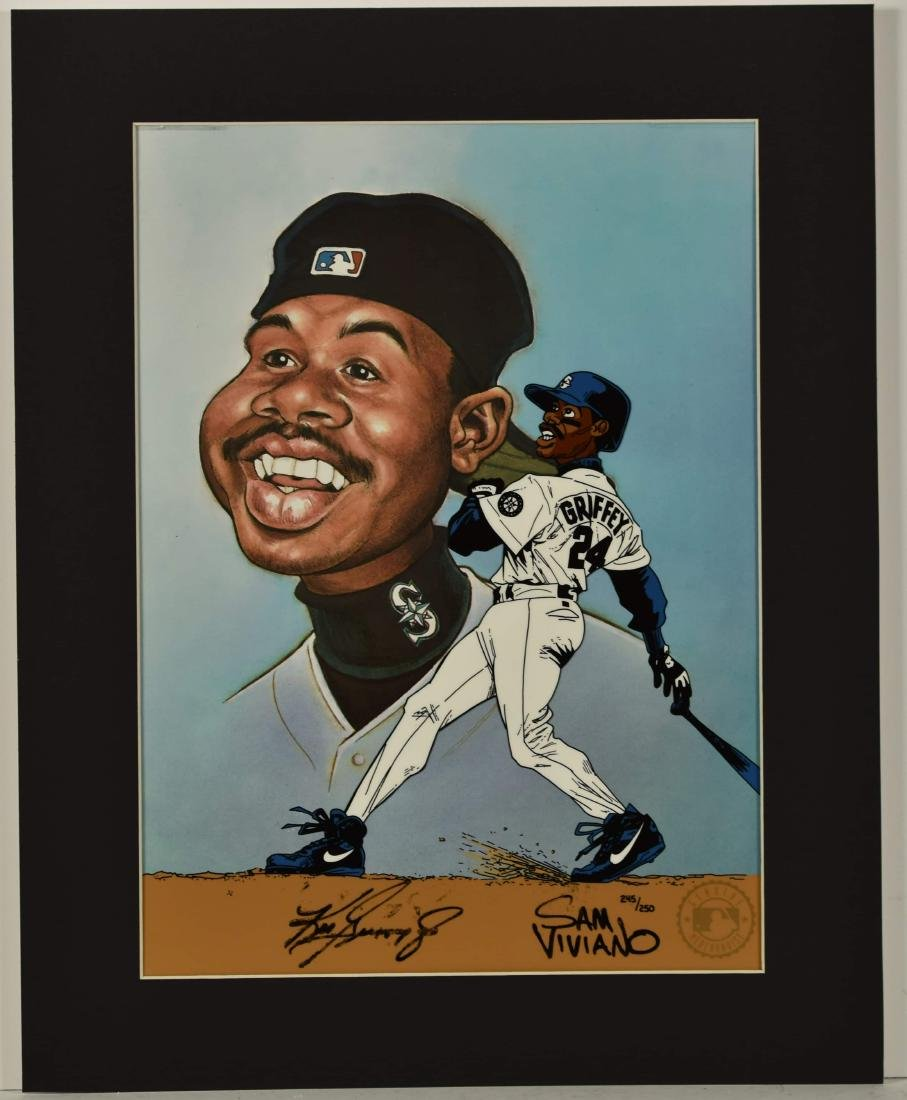 Ken Griffey Jr. signed L.E. Hand-Painted Cel created