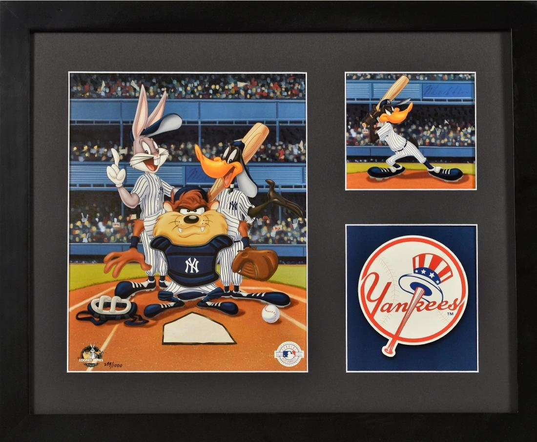 Warner Bros. Yankees Framed 3 Opening L.E. Lithograph