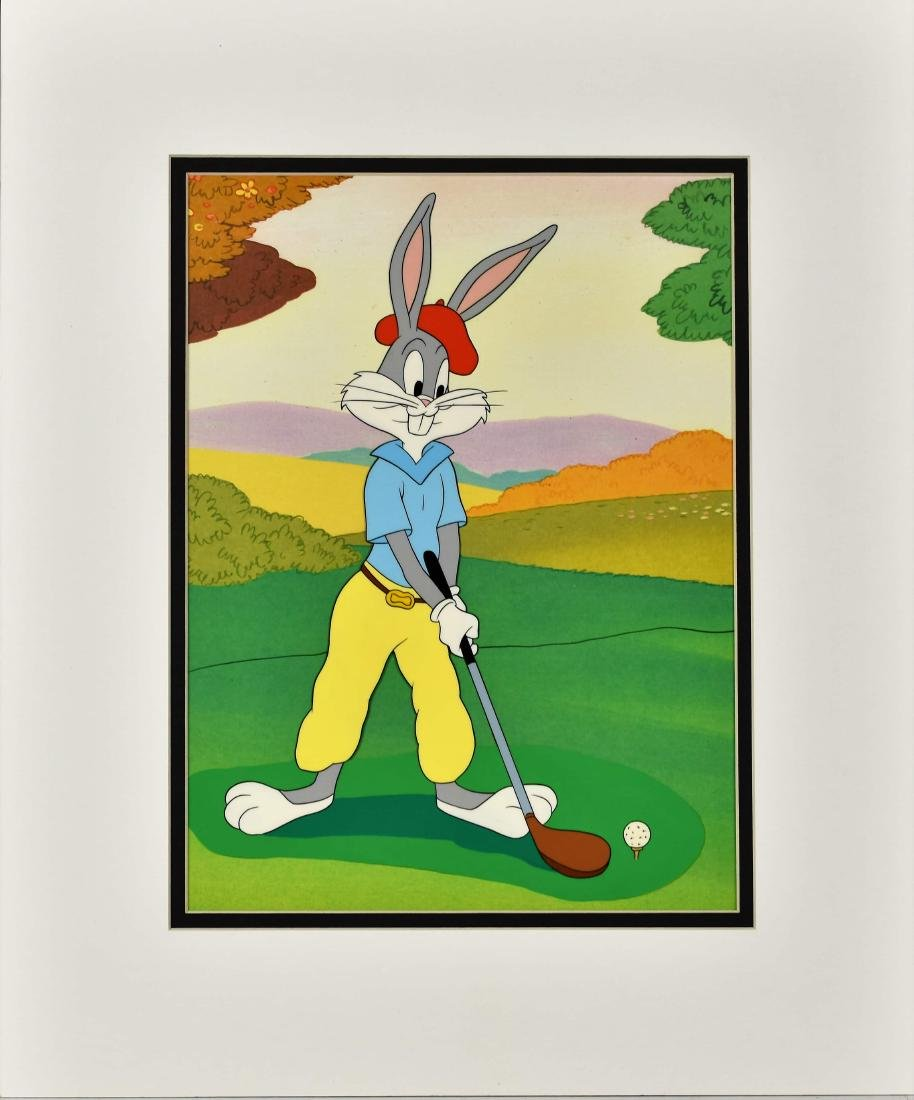 Bugs Bunny Golf Hand-Painted Prototype Matted