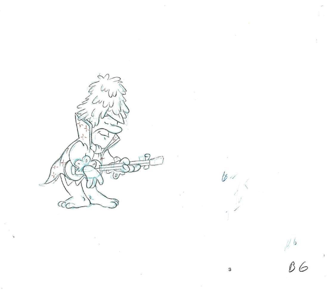 Barney Prod Cel & Drawing-1980's Fruity Pebbles - 3