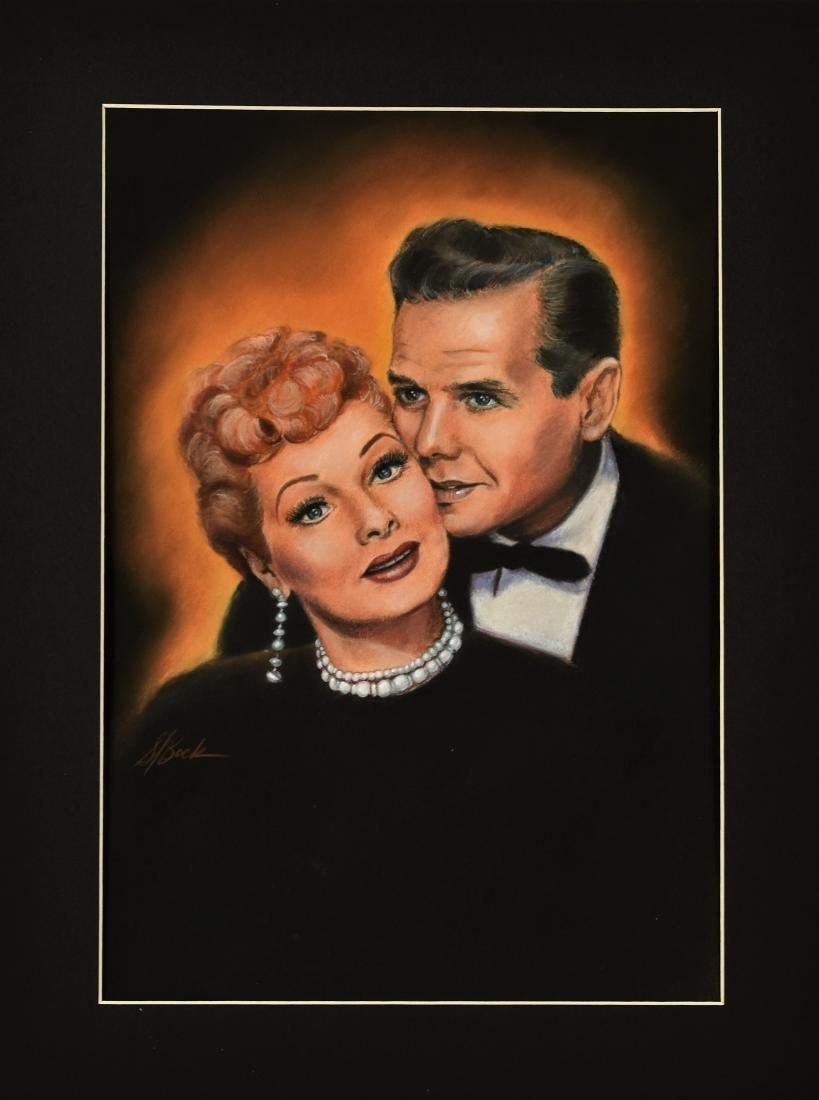 Original H.P. Art of Lucy (Lucille Ball)& Ricky (Desi