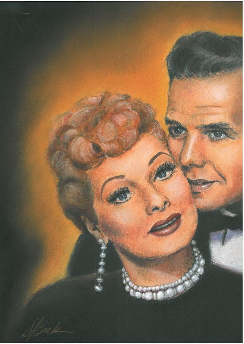 Original H.P. Art of Lucy (Lucille Ball)& Ricky (Desi - 2