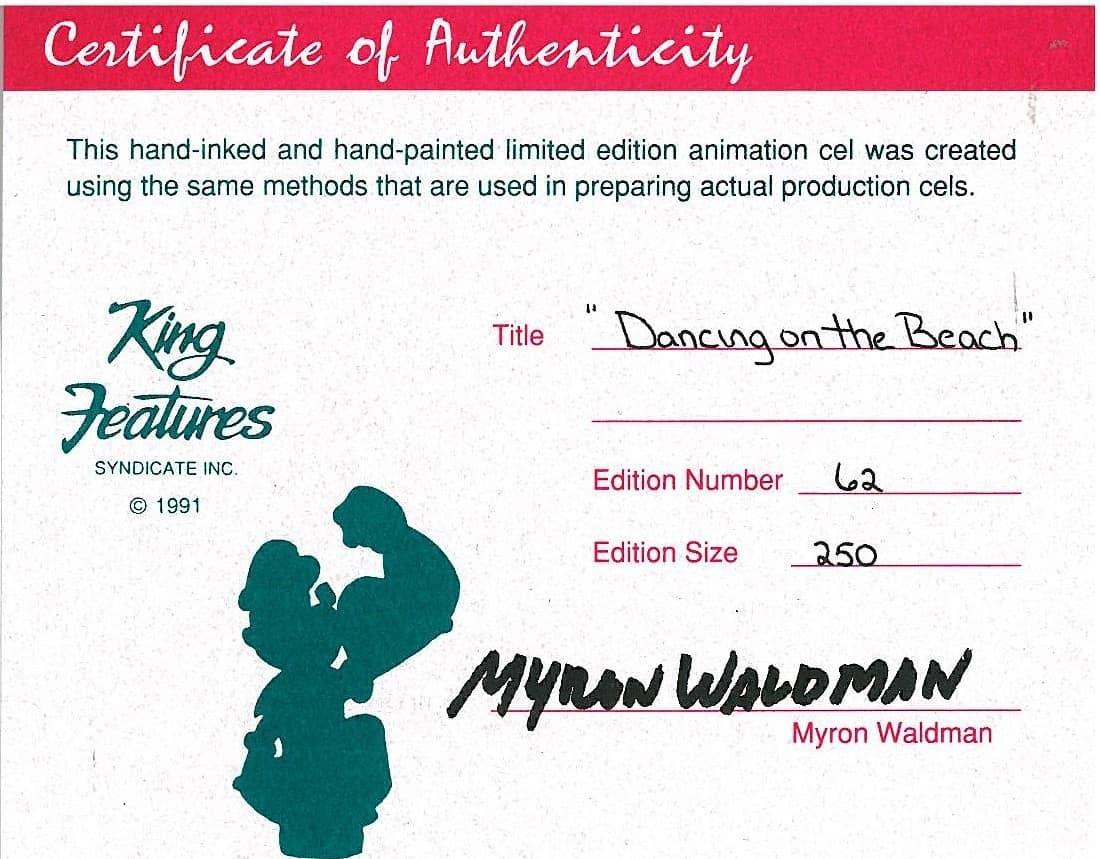 Popeye - LE HP Cel signed Waldman- Dancing Beach - 3