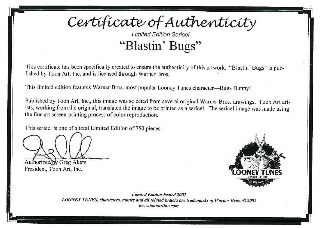 Warner Bros. LE Sericel-Bugs Bunny - Blastin Bugs - 3