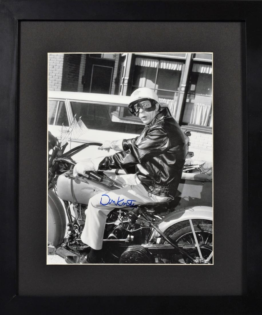 Barney Fife-Signed Don Knotts Framed Motorcycle Photo