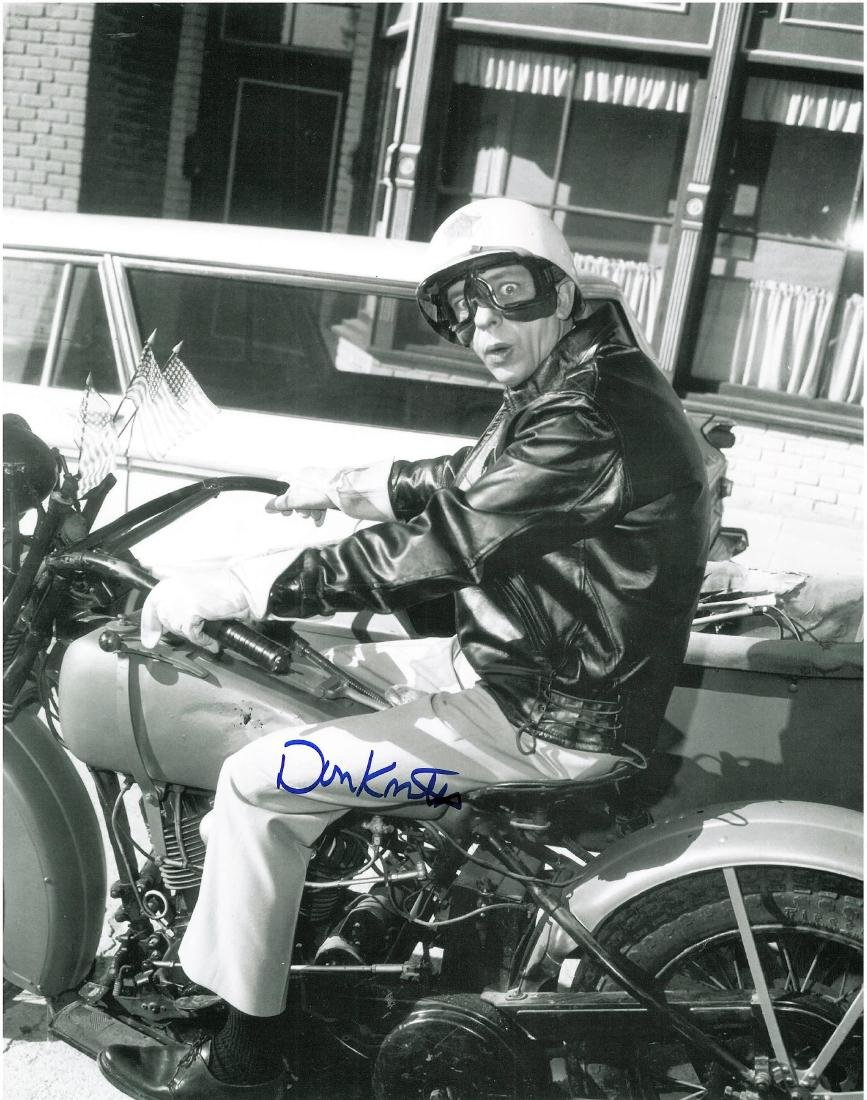Barney Fife-Signed Don Knotts Framed Motorcycle Photo - 2