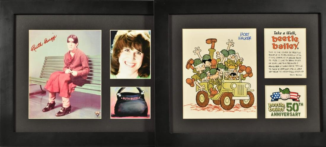 Ruth Buzzi Signed & Framed  Beatle Bailey -Signed