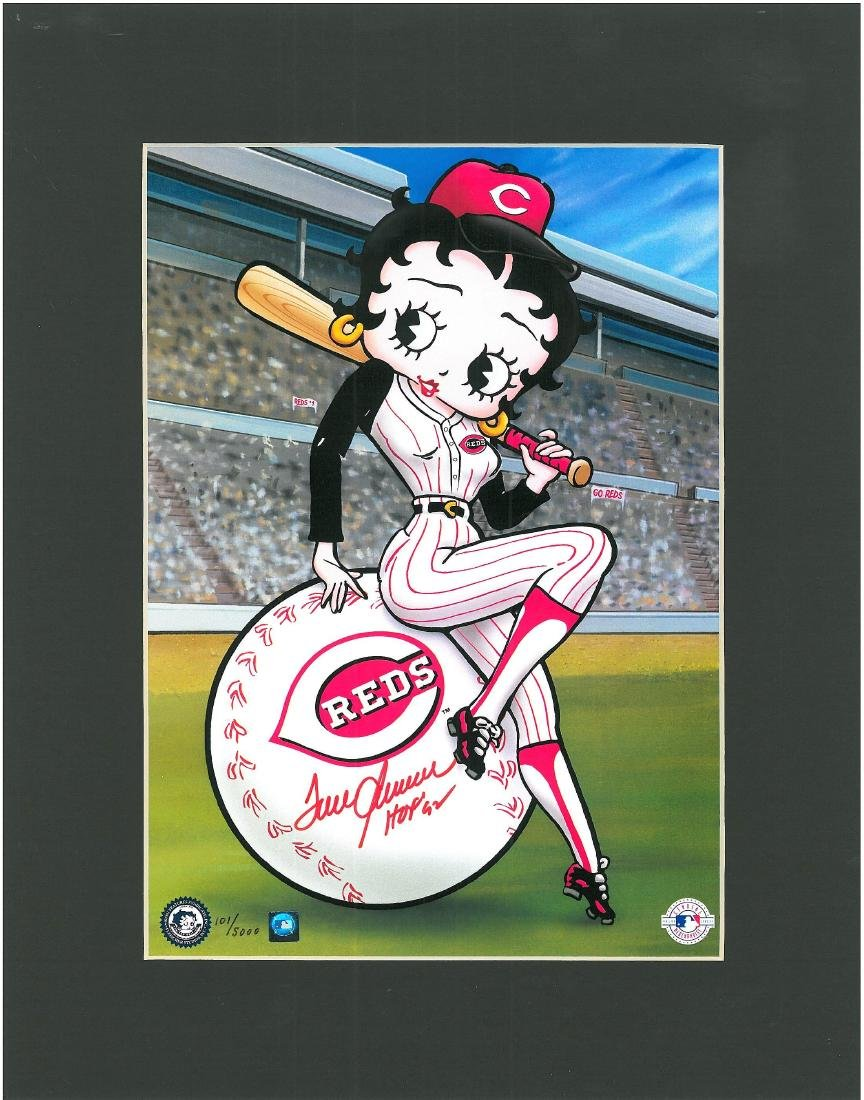 Tom Seaver signed Reds L.E. litho- Betty Boop on Deck - 2