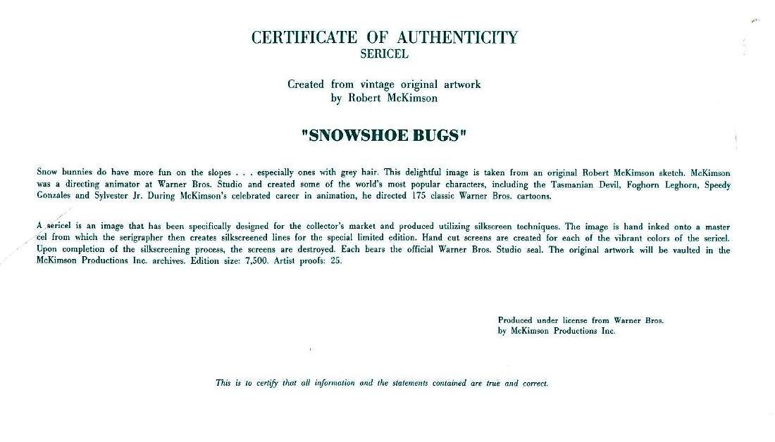 Warner Bros. L.E. Matted Sericel - Snowshoe Bugs - 3