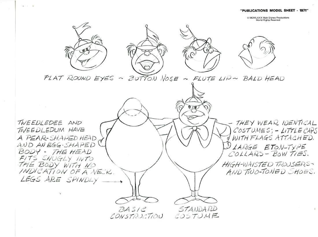 Disney 1971 Alice & Wonderland Model Sheets - 3