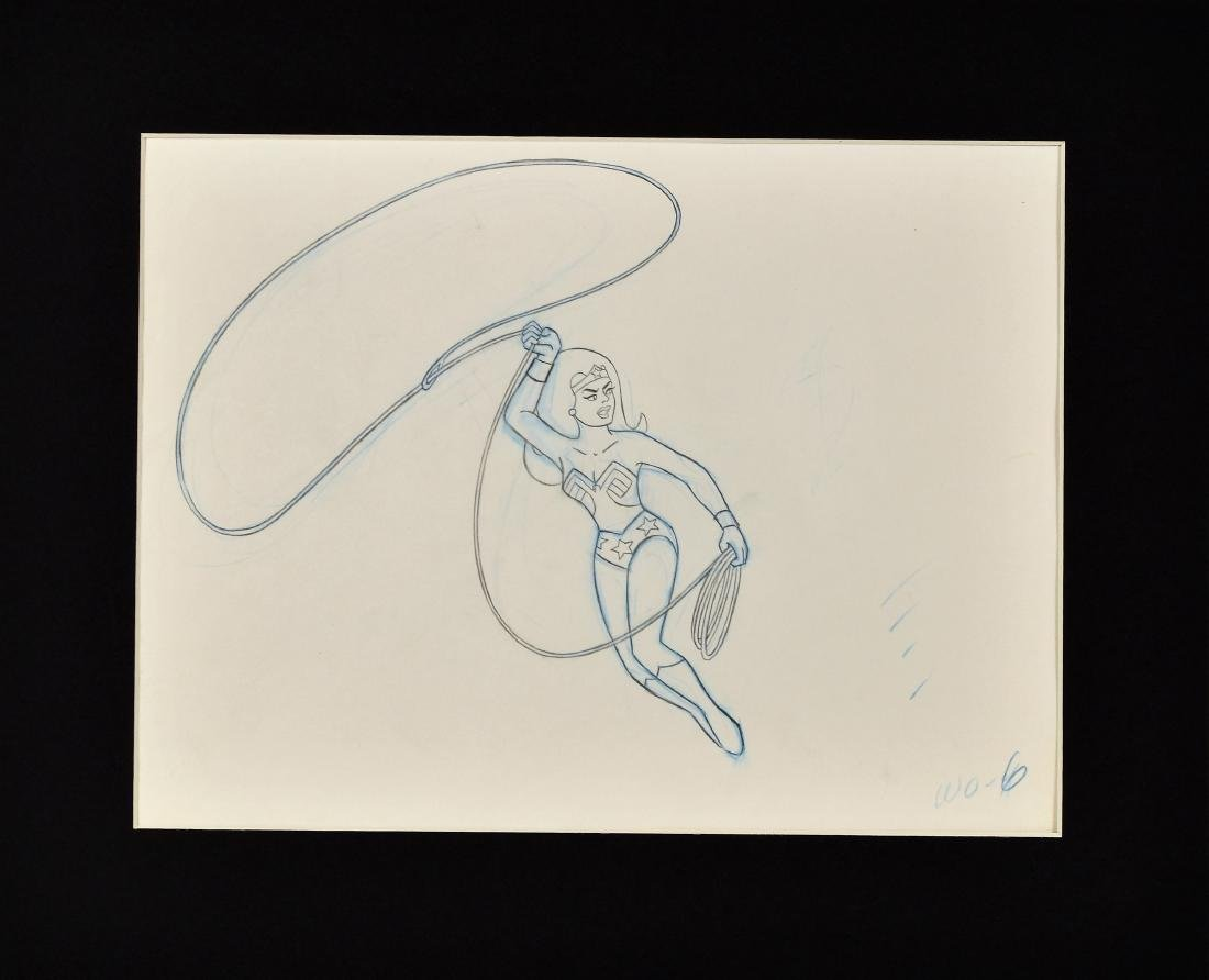 Superfriends Production Drawing of Wonder Woman