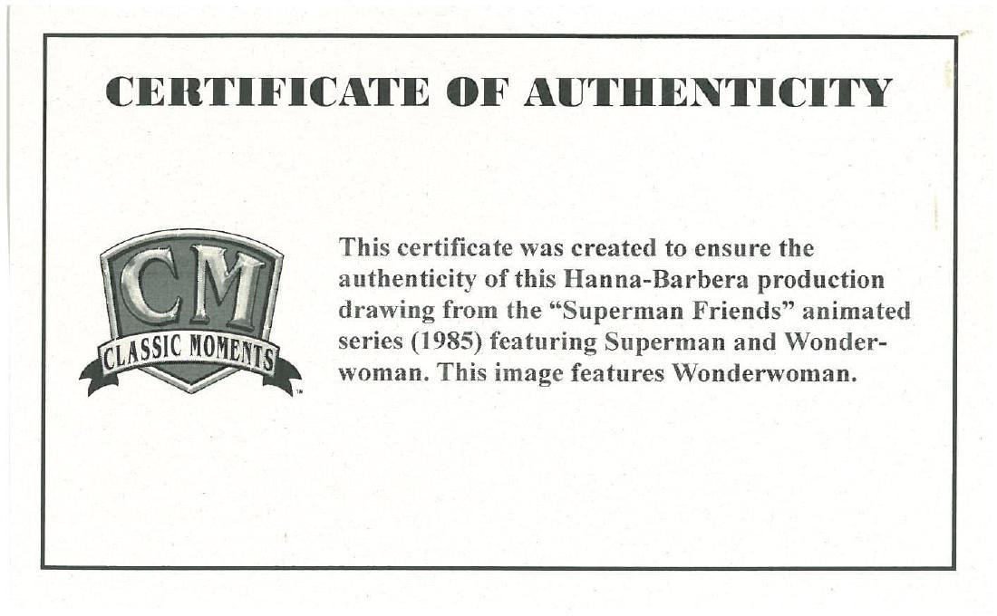 Superfriends Production Drawing of Wonder Woman - 3