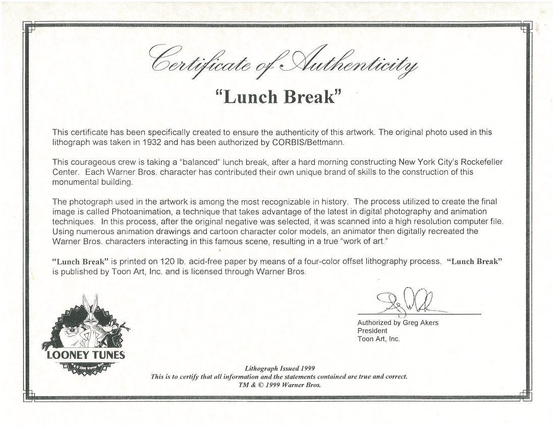 Warner Bros. Lithograph - Lunch Break - 2