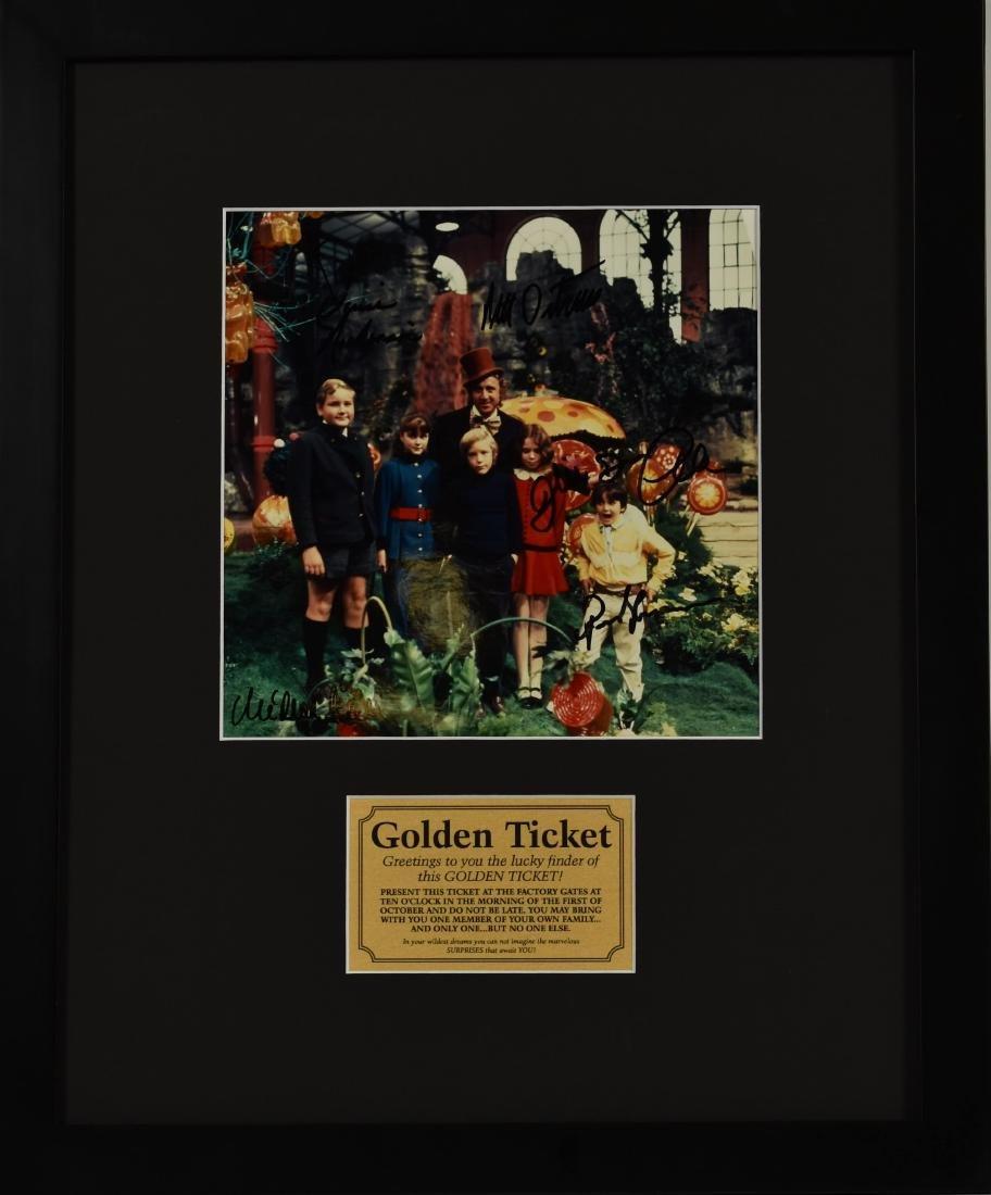 Wonka Golden Ticket - Signed and Framed