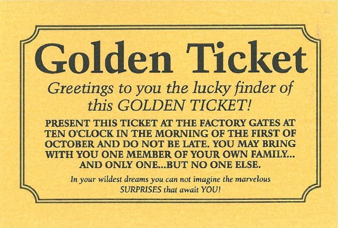 Wonka Golden Ticket - Signed and Framed - 3
