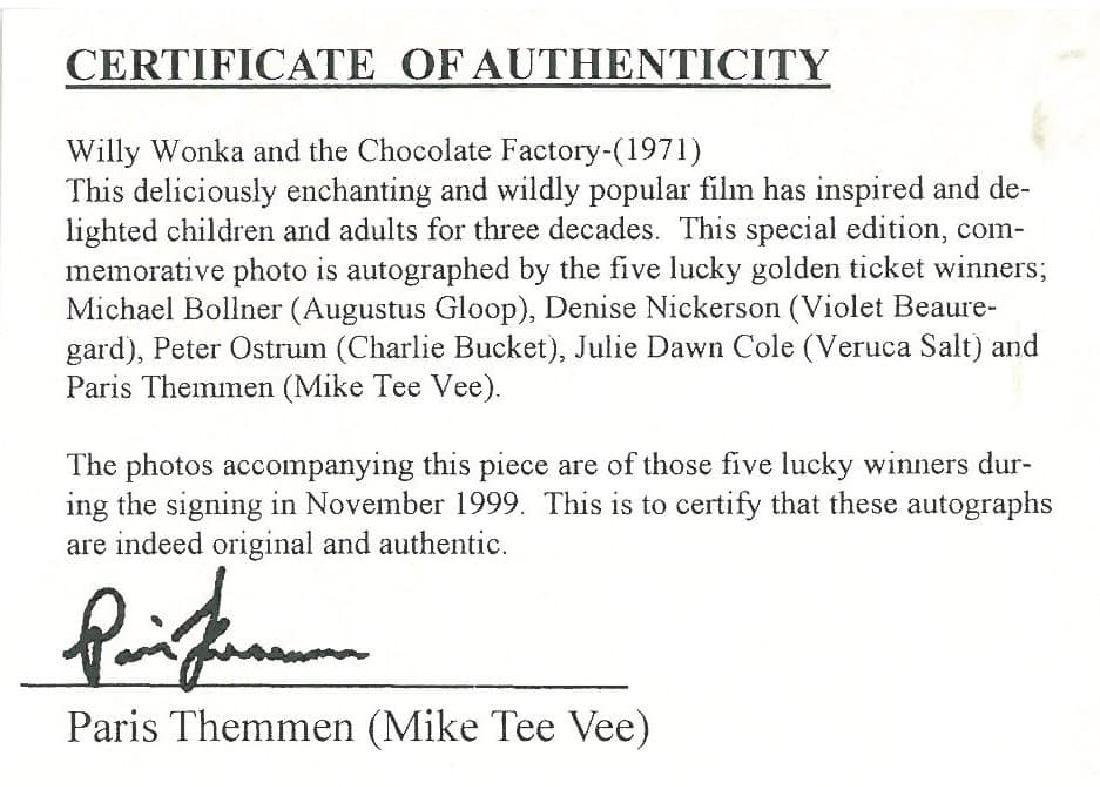 Wonka Golden Ticket - Signed and Framed - 5