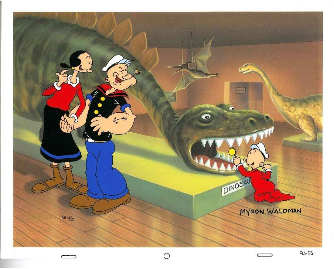 HP LE Signed Popeye Cel-Don't Feed the Dinosaur Waldman