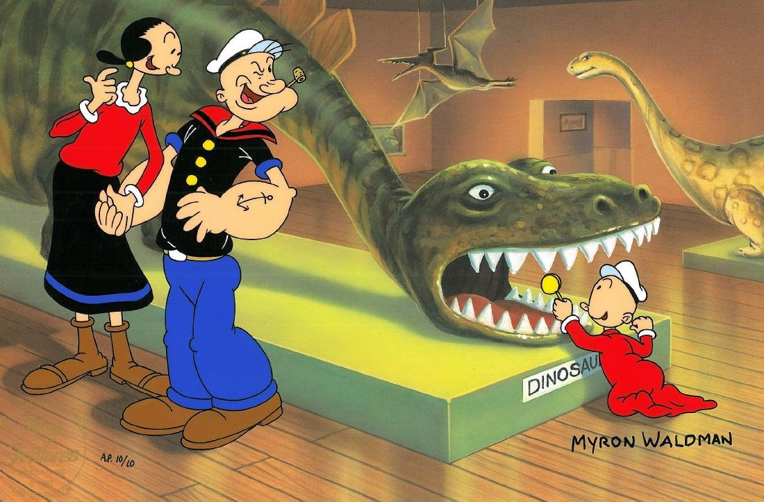 HP LE Signed Popeye Cel-Don't Feed the Dinosaur Waldman - 2
