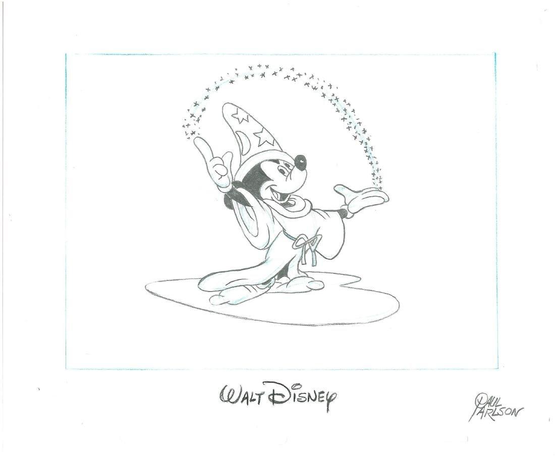 Mickey Sorcerer's Apprentice sketch signed animator - 2