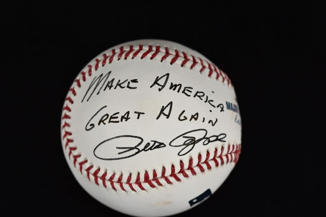 """Pete Rose signed Ball inscribed """"Make America Great"""