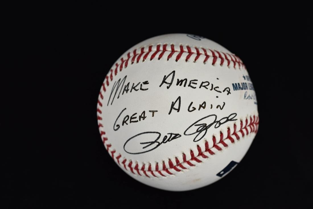 """Pete Rose signed Ball inscribed """"Make America Great - 4"""