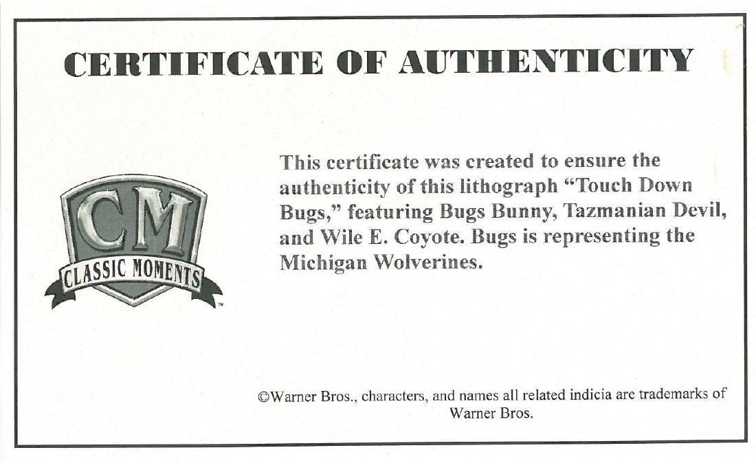 "Warner Bros. Lithograph ""Michigan Bugs"" - 2"