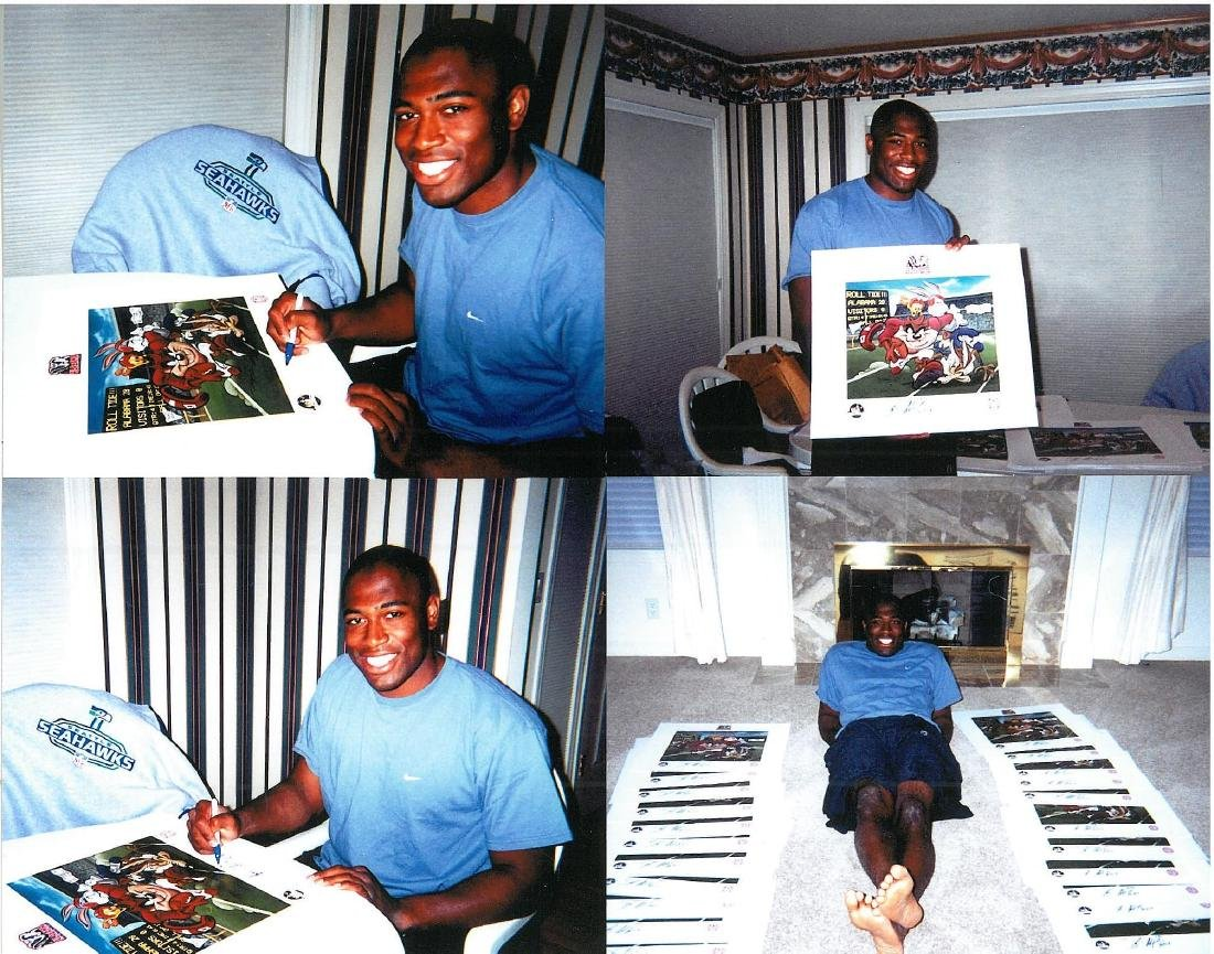 """Shaun Alexander Signed LE Lithograph """"Roll Tide """" - 3"""