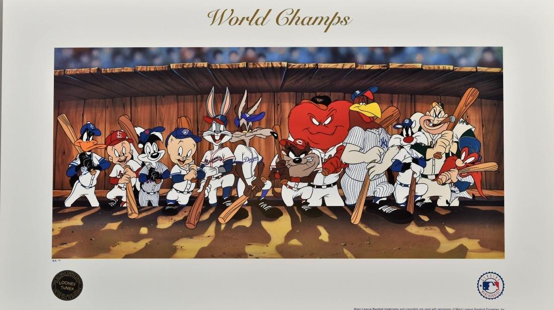 Warner Bros. MLB World Champs LE Lithograph