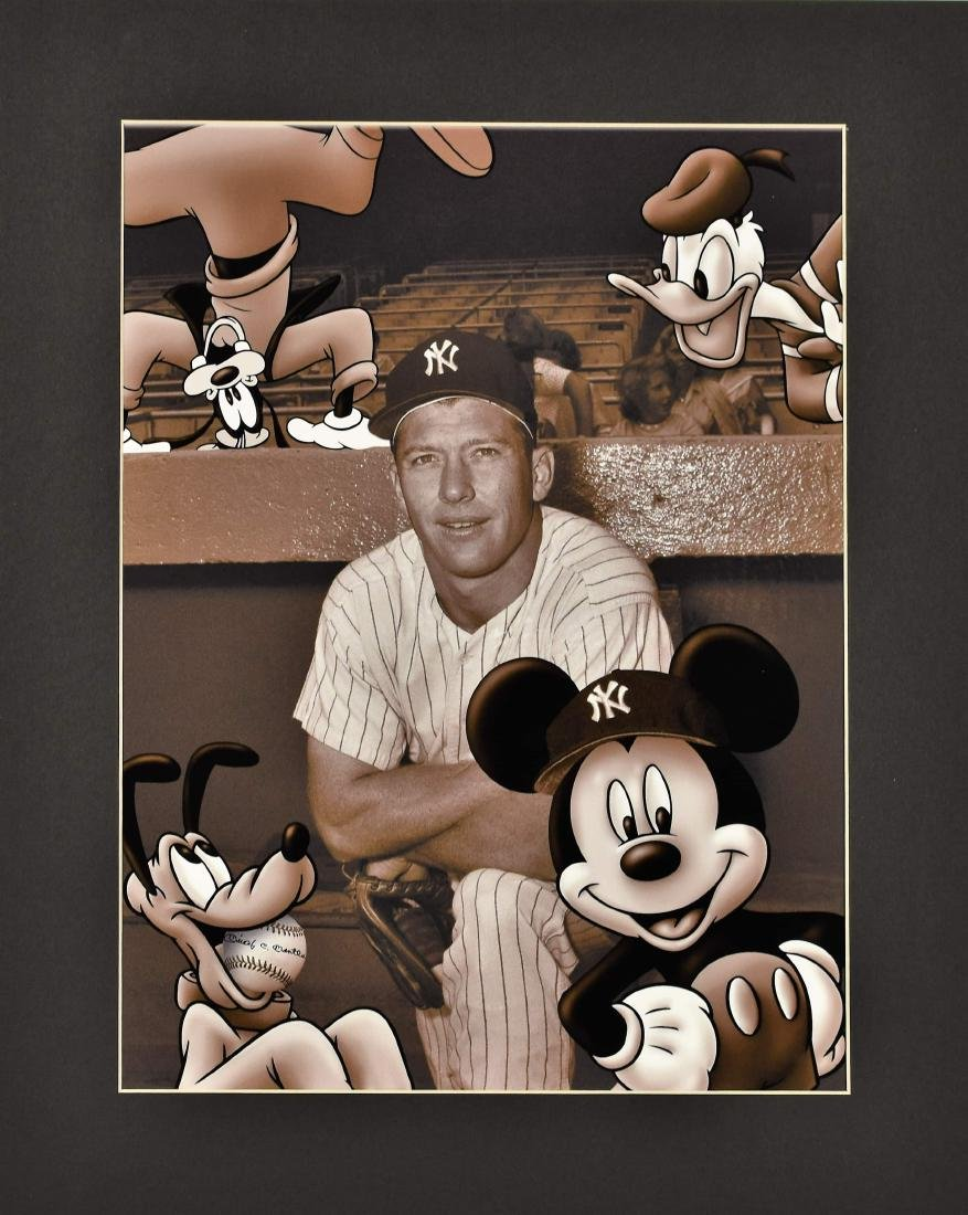 Disney/MLB - Mickey Mouse & Mickey Mantle Fuji Crystal