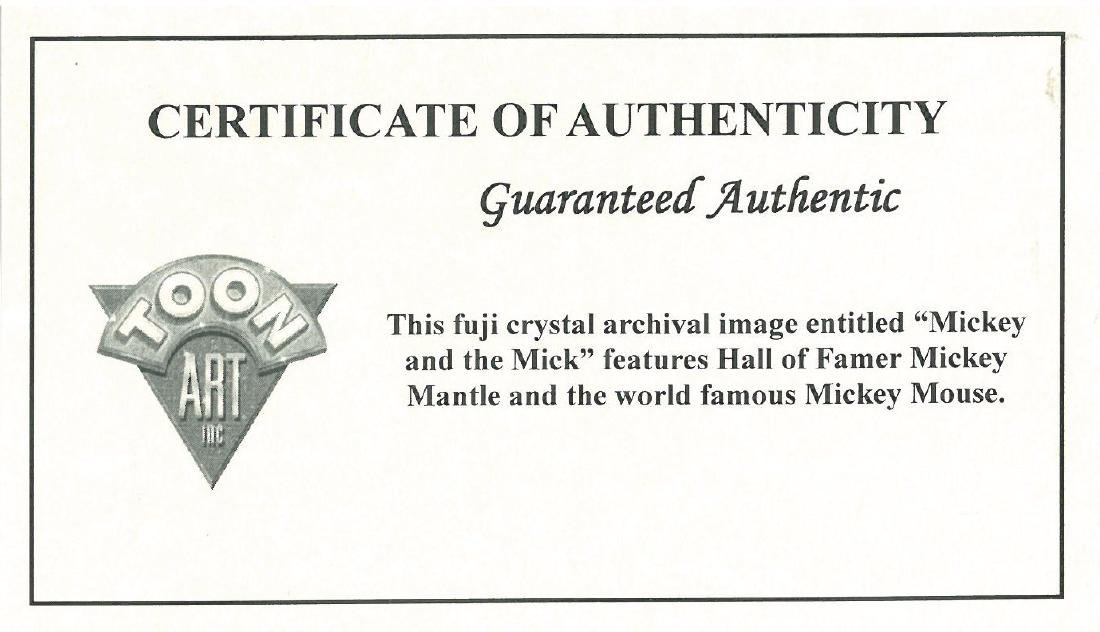 Disney/MLB - Mickey Mouse & Mickey Mantle Fuji Crystal - 2