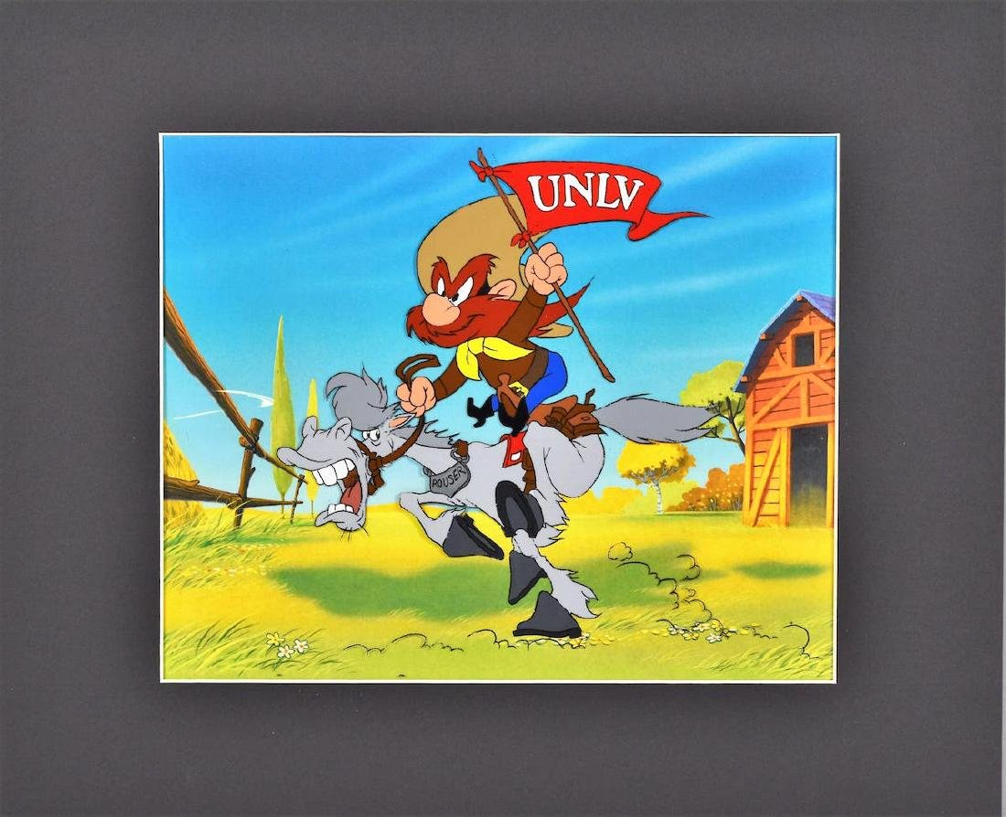 Warner Bros. Yosemite Waving UNLV Flag - Prototype Cel