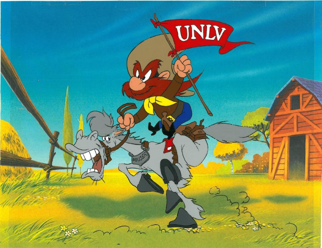 Warner Bros. Yosemite Waving UNLV Flag - Prototype Cel - 2