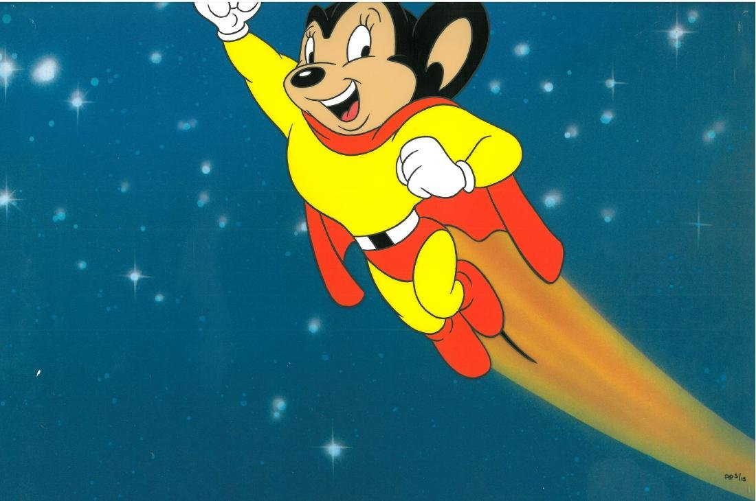 Terrytoons -Mighty Mouse - L.E. Hand-Painted Cel Matted - 2