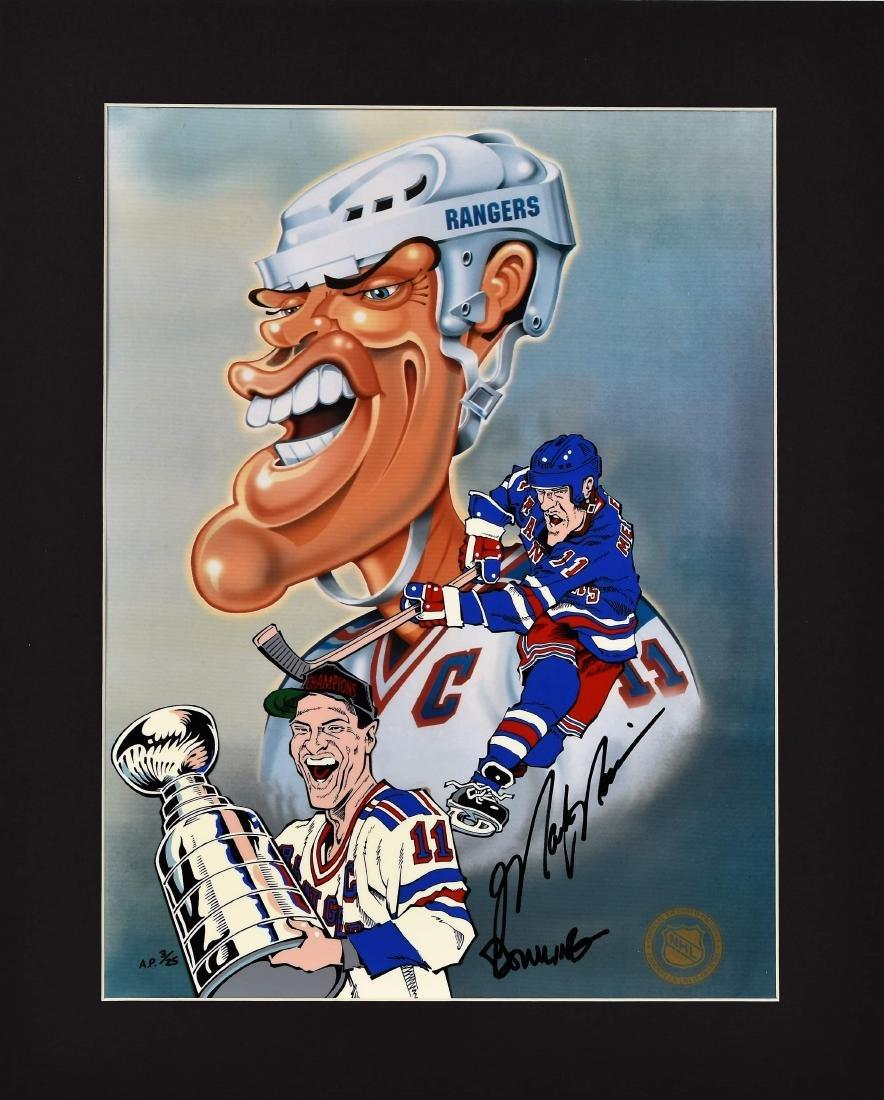 NY Ranger-Mark Messier signed LE HP Cel