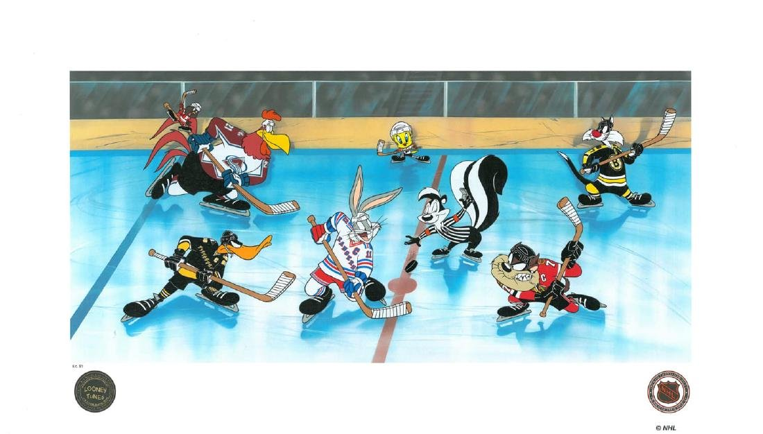 Warner Bros. L.E NHL Litho Toons Take the Ice