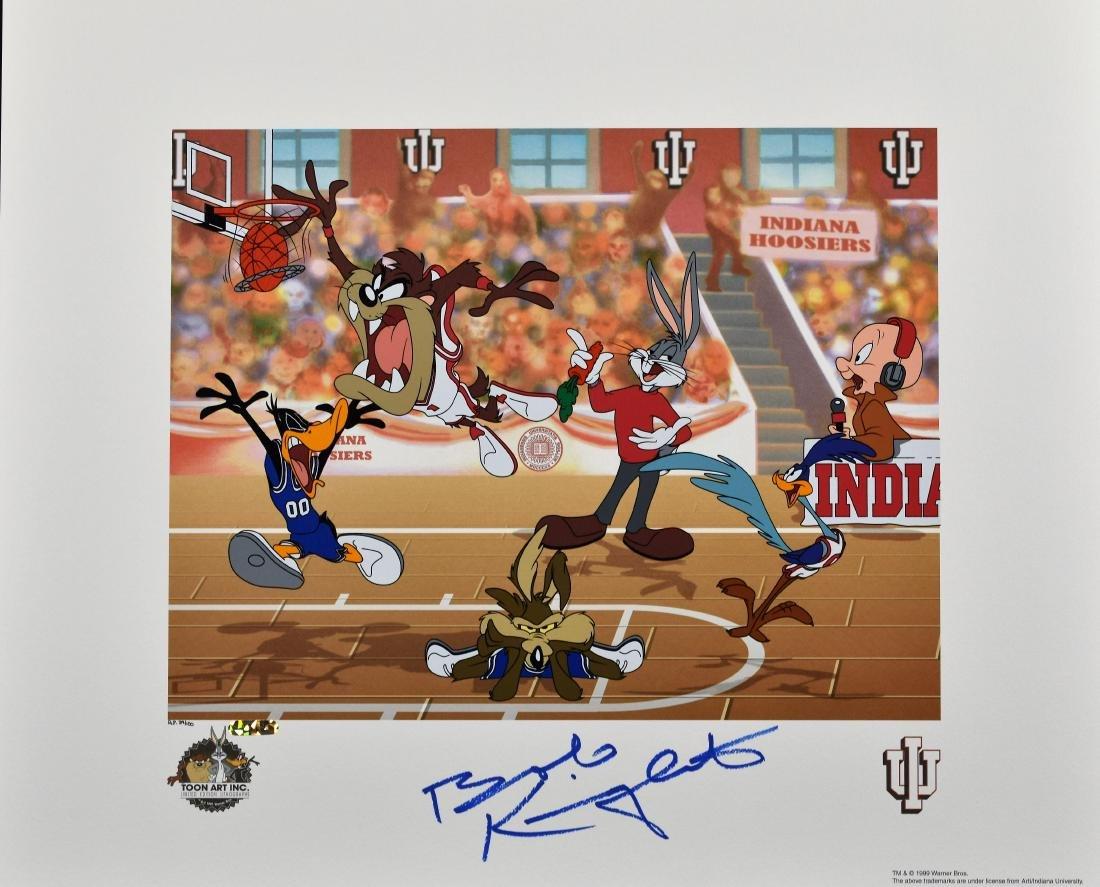 Warner Bros. L.E. IU Basketball Litho signed by Bobby