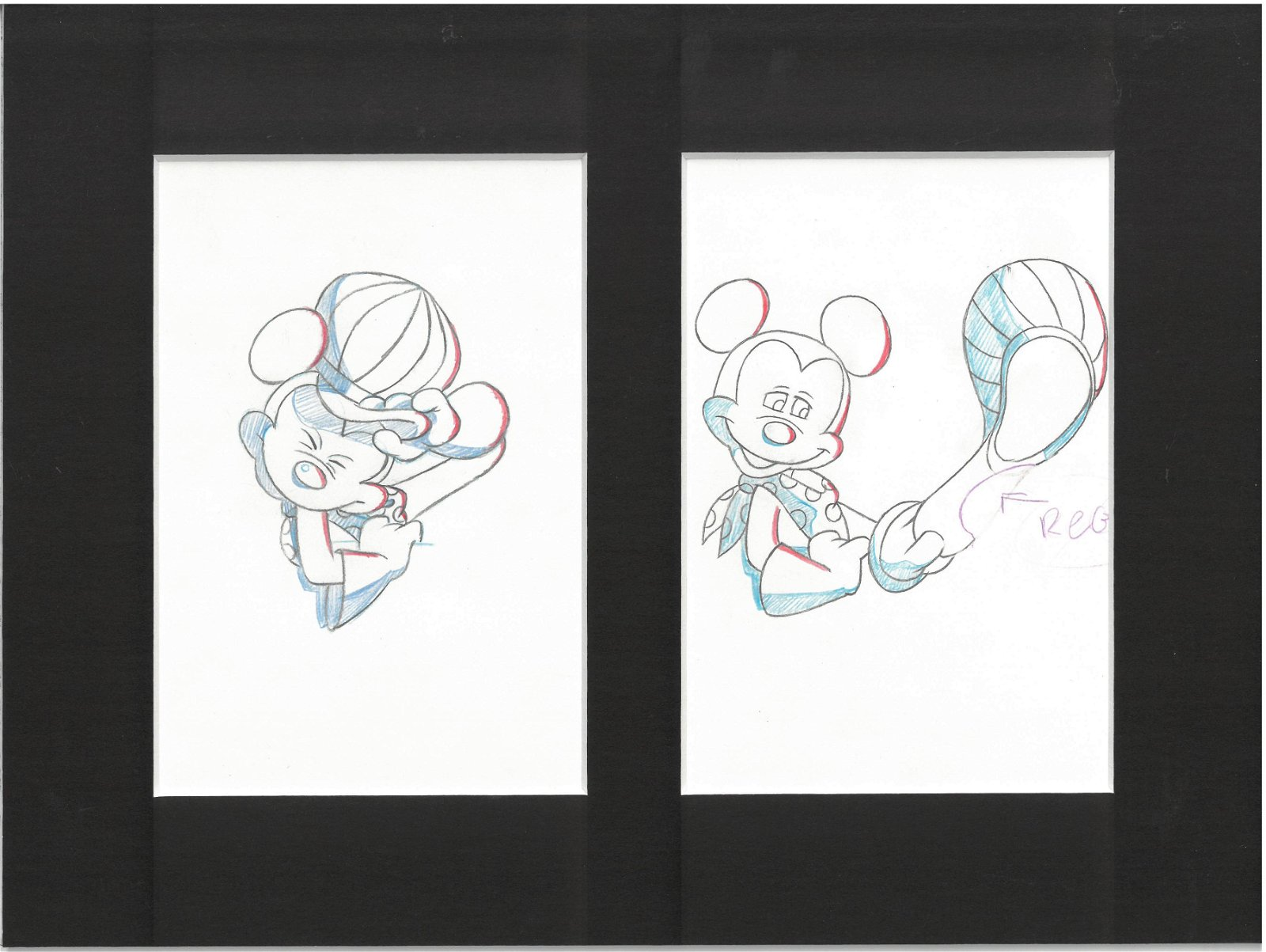 Mickey Mouse - Toot-N-Go Production Drawings