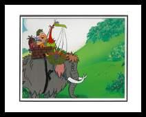 Flintstones Original Prod Cel and Drawing- Fruity Fizz