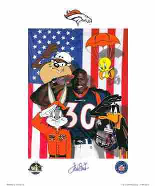 Signed-Denver Broncos Terrell Davis - Warner Bros.