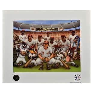 Cincinnati Reds 1976 Big Red Machine/WB Lithograph
