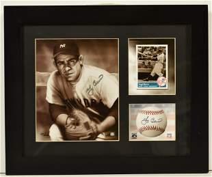 Yogi Berra- Signed New York Yankees Lithograph