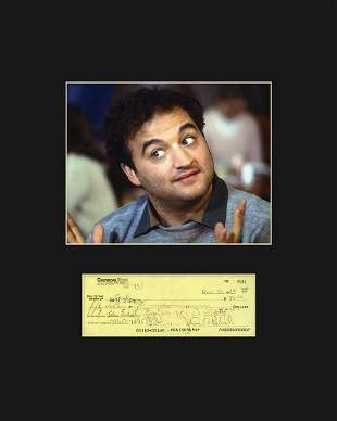 John Belushi with Reproduction Check -Matted