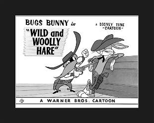 """Warner Bros.- Bugs Bunny in """"Wild and Wooy Hare"""" Giclee"""