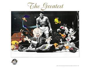 Muhammad Ali - Looney Tunes -The Greatest - Lithograph