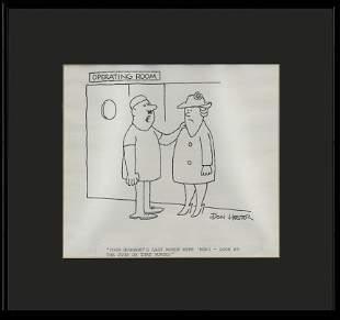 Don Henson -Vintage Comic Strip - Framed Circa 1970's