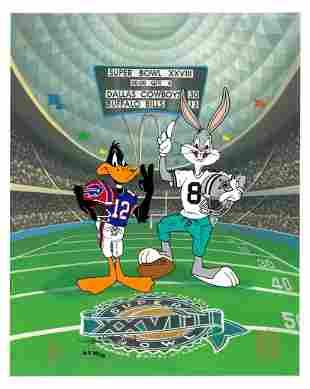 Buffalo Bills/Dallas Cowboys - Hand-Painted WB Cel