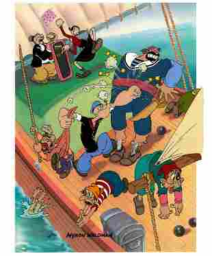 Mutiny- Popeye Signed Hand-Painted Cel
