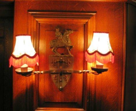 1: HERALDIC WALL CAST SCONCE