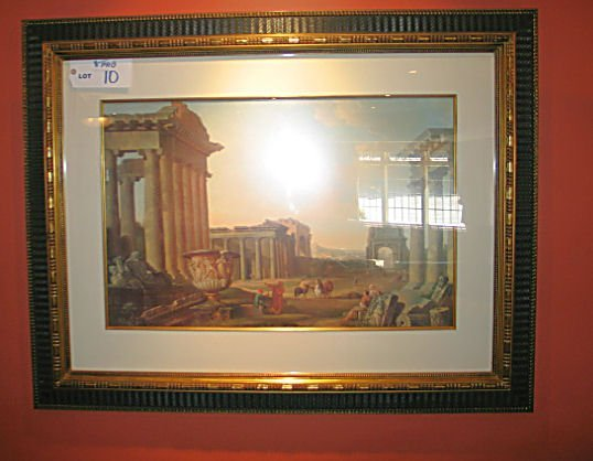 10: ROMAN PRINT IN GILT FRAME