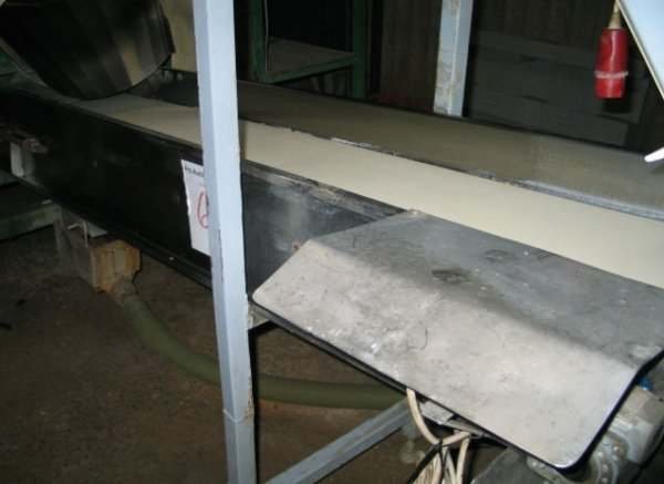 6: Outfeed conveyor on Stainless steel frame